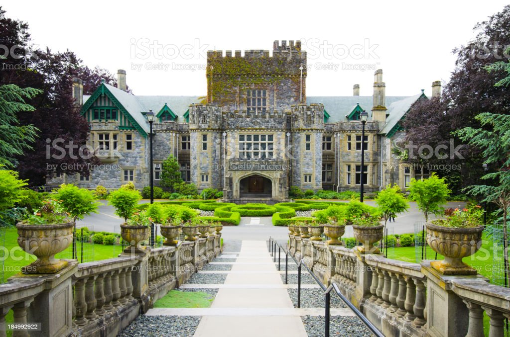 Hatley Castle of Royal Roads University stock photo