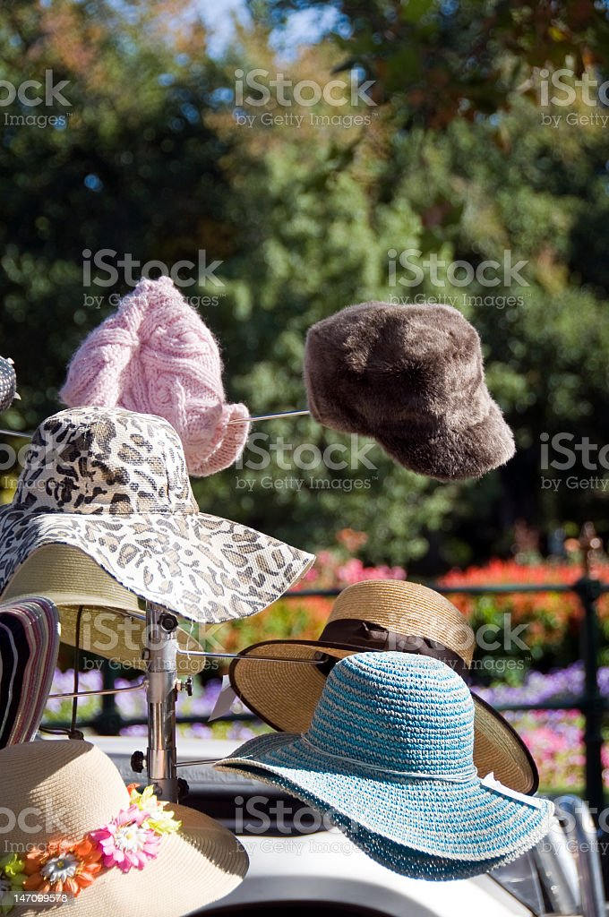 Hats for all weather stock photo
