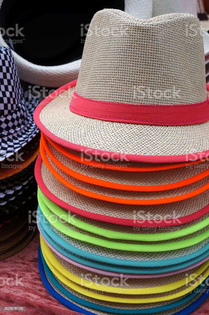 Hats for sale. stock photo