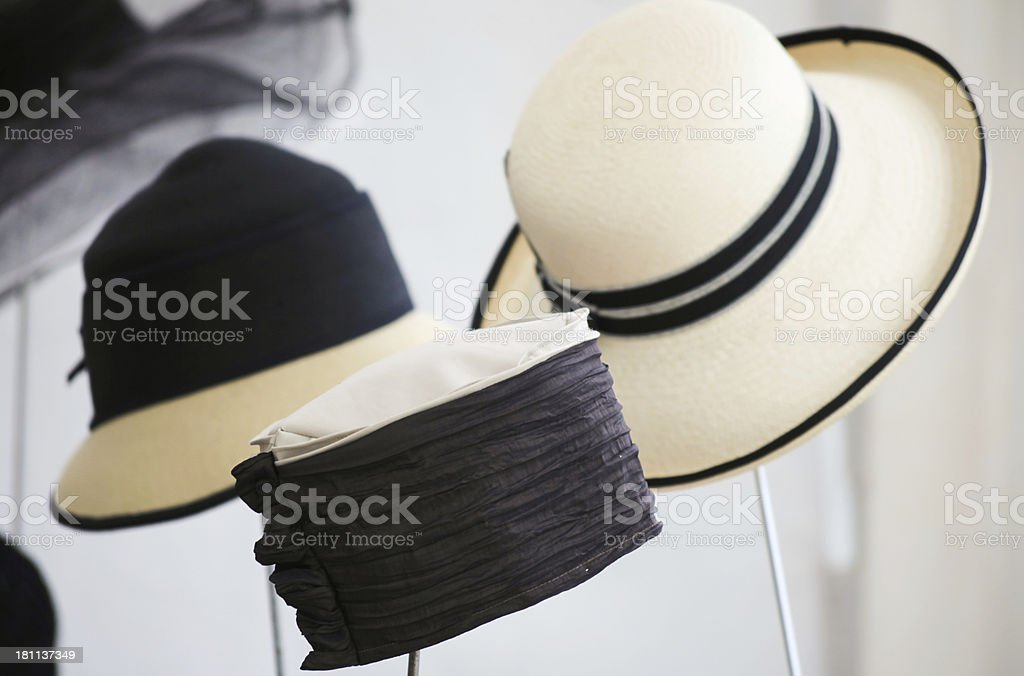 Hats for women stock photo