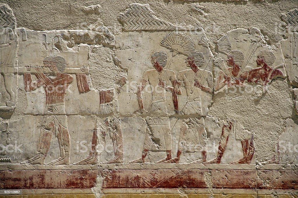 hatshepsut temple fresco royalty-free stock photo