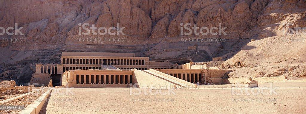 Hatshepsut temple panorama Egypt stock photo