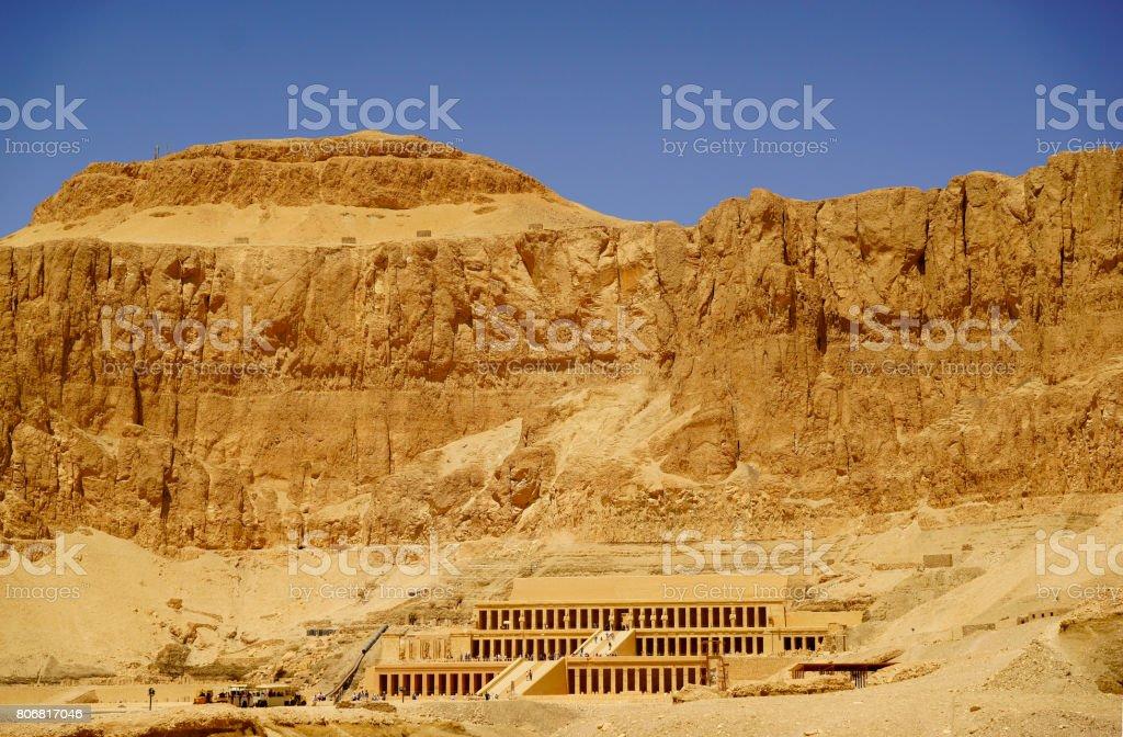 Hatshepsut temple panorama stock photo