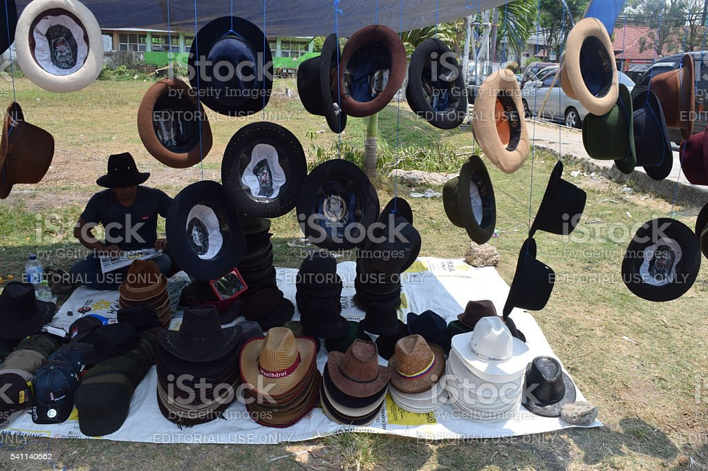 Hatter in Pamekasan stock photo
