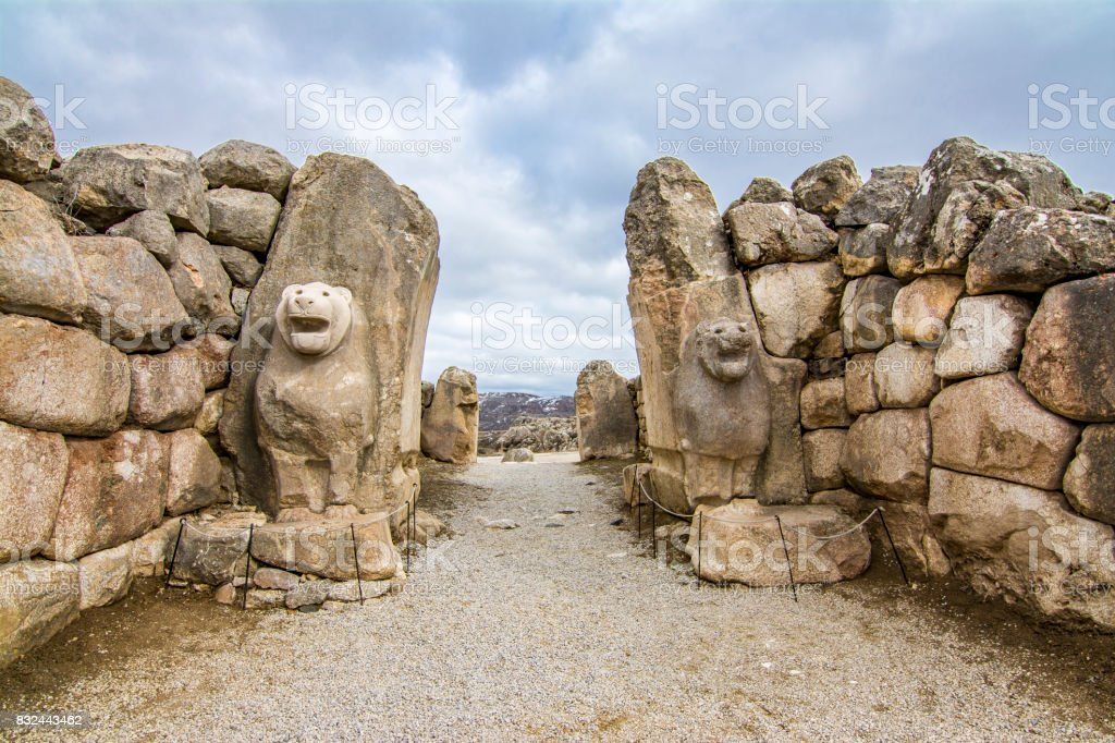Hattusa ruins in Corum stock photo