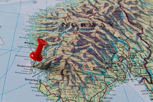 Green Map Of Norway Pictures Images And Stock Photos IStock - Norway map haugesund