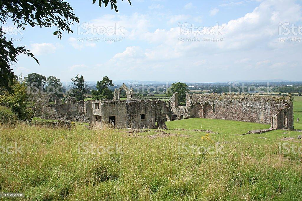 Haughmond Abbey ruins stock photo