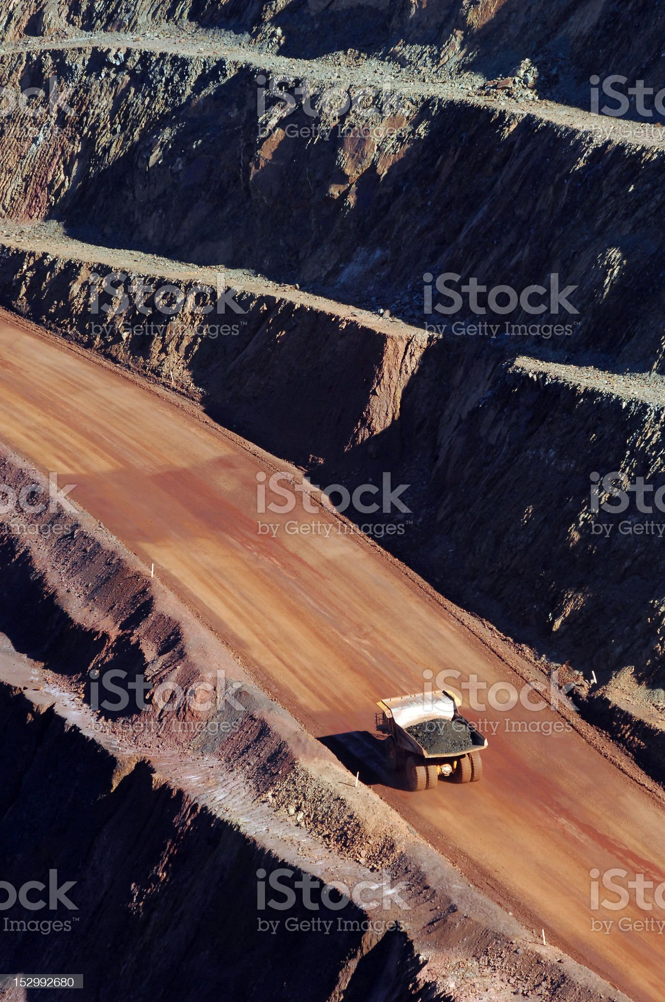 Haul truck carrying ore in a minesite royalty-free stock photo