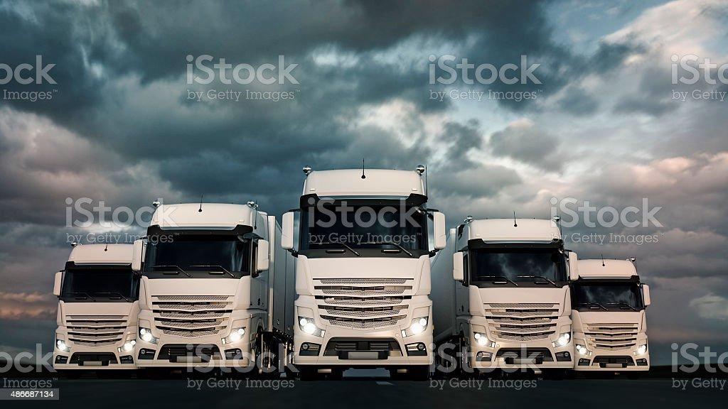 Haulage Fleet stock photo