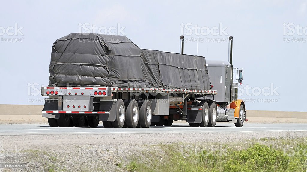 Hauling A Covered Load stock photo