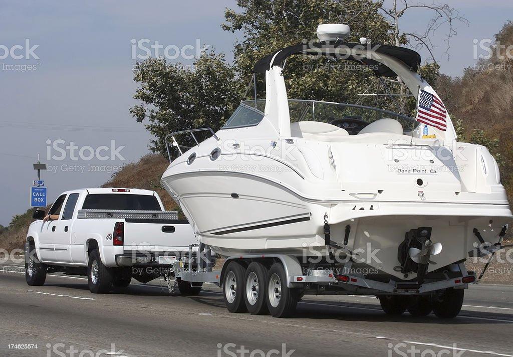 Hauling Boat royalty-free stock photo