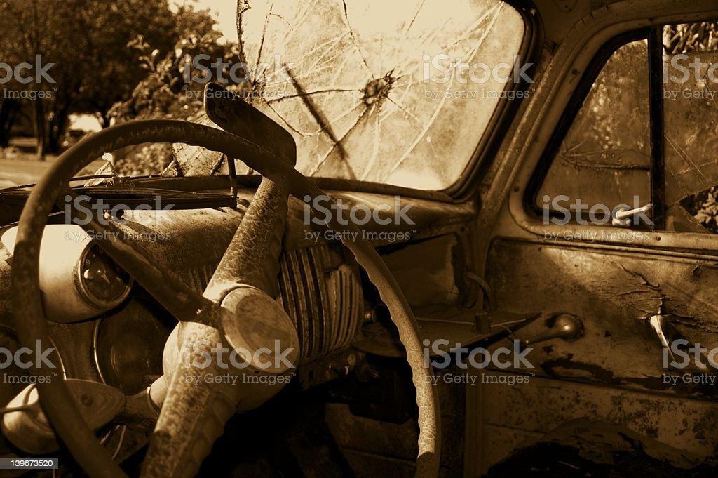 haunted derelict (interior) stock photo
