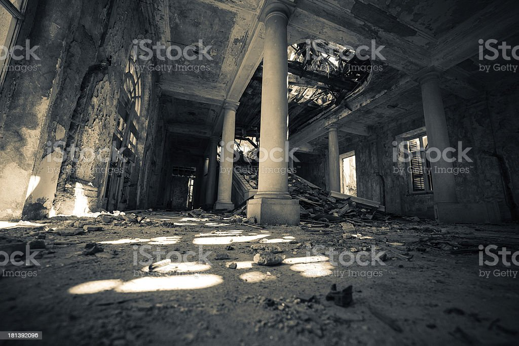 Haunted Hotel stock photo