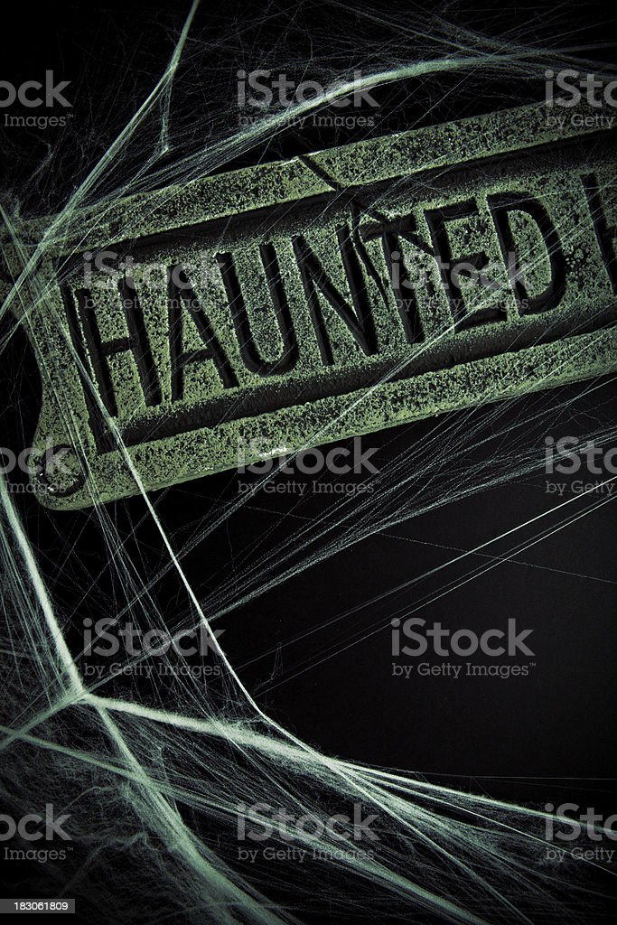 haunted sign royalty-free stock photo