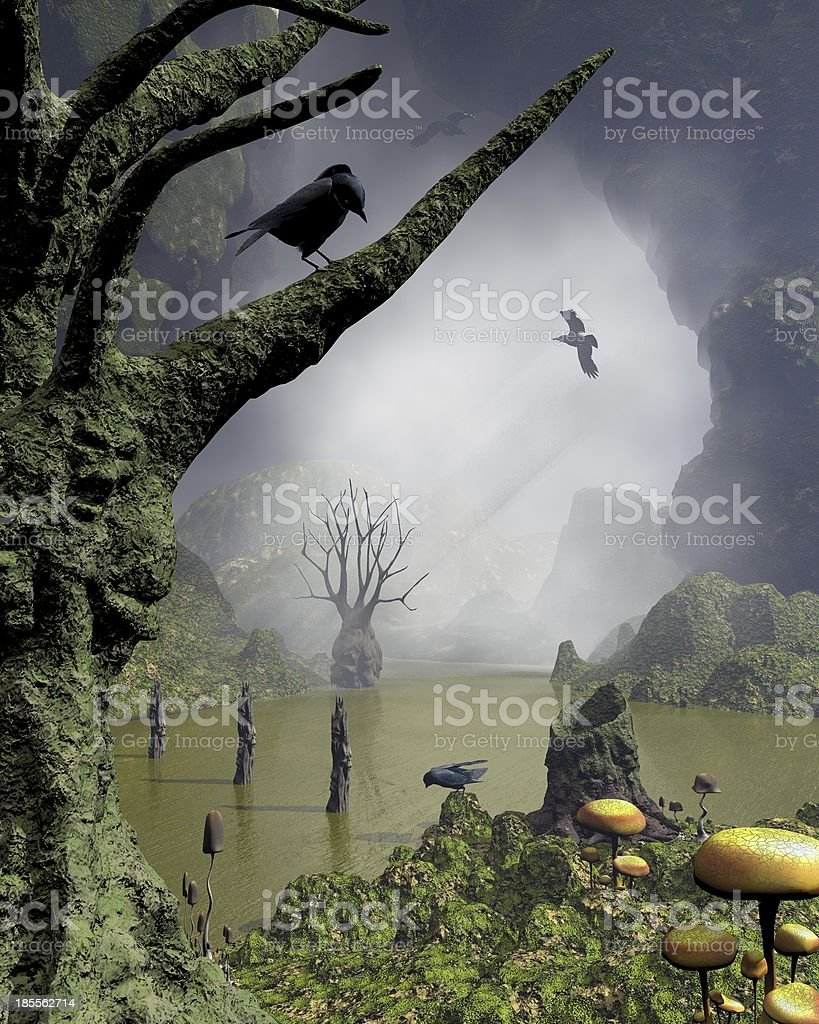 Haunted Swamp royalty-free stock photo