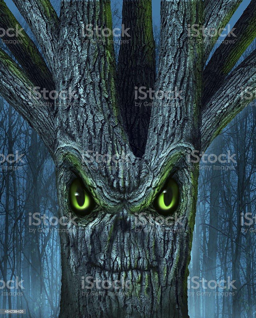 Haunted Tree stock photo