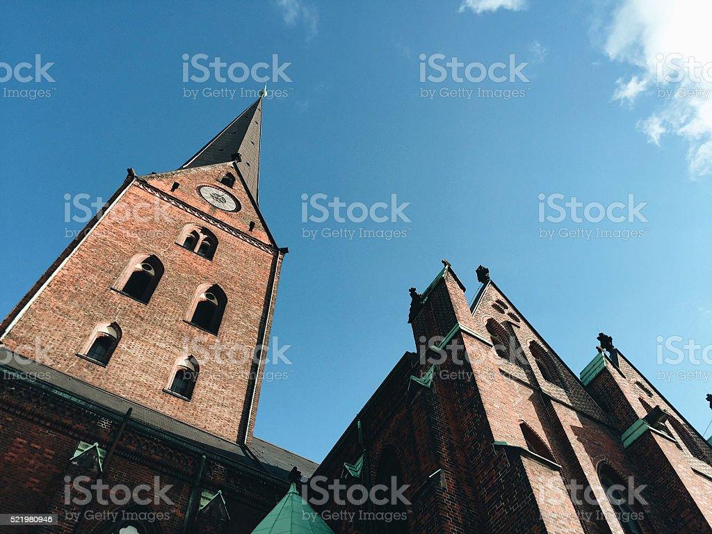 Hauptkirche Sankt Petri - St. Peter's Church / Hamburg stock photo