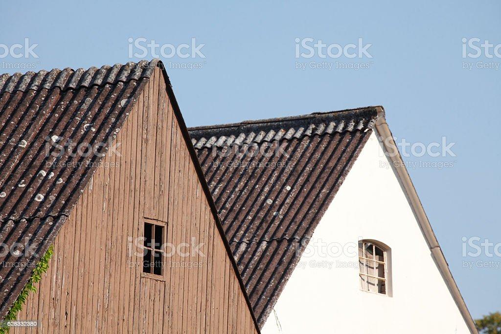 Hausgiebel stock photo
