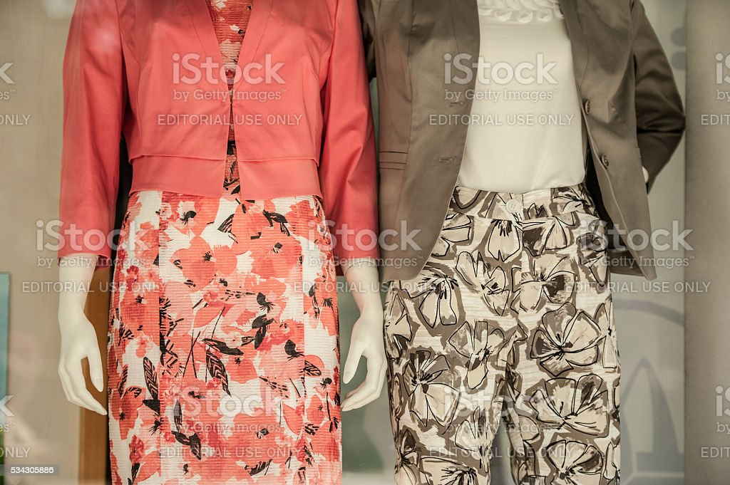 Haute Couture Window Display stock photo
