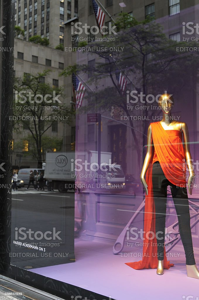 Haute Couture Window Display,NYC stock photo