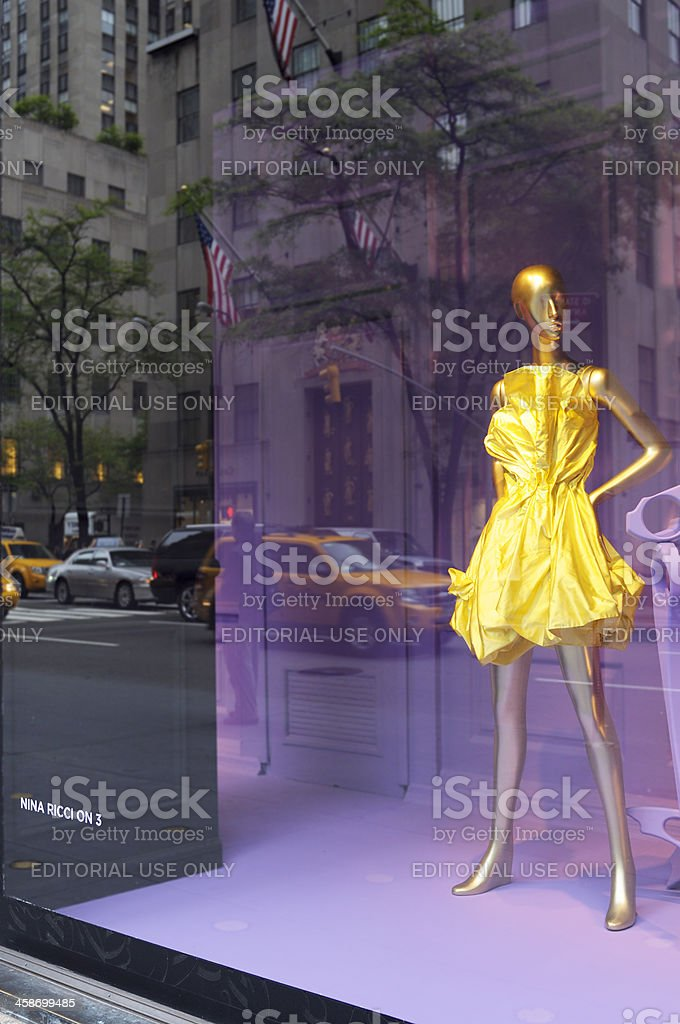 Haute Couture Window Display.NYC stock photo