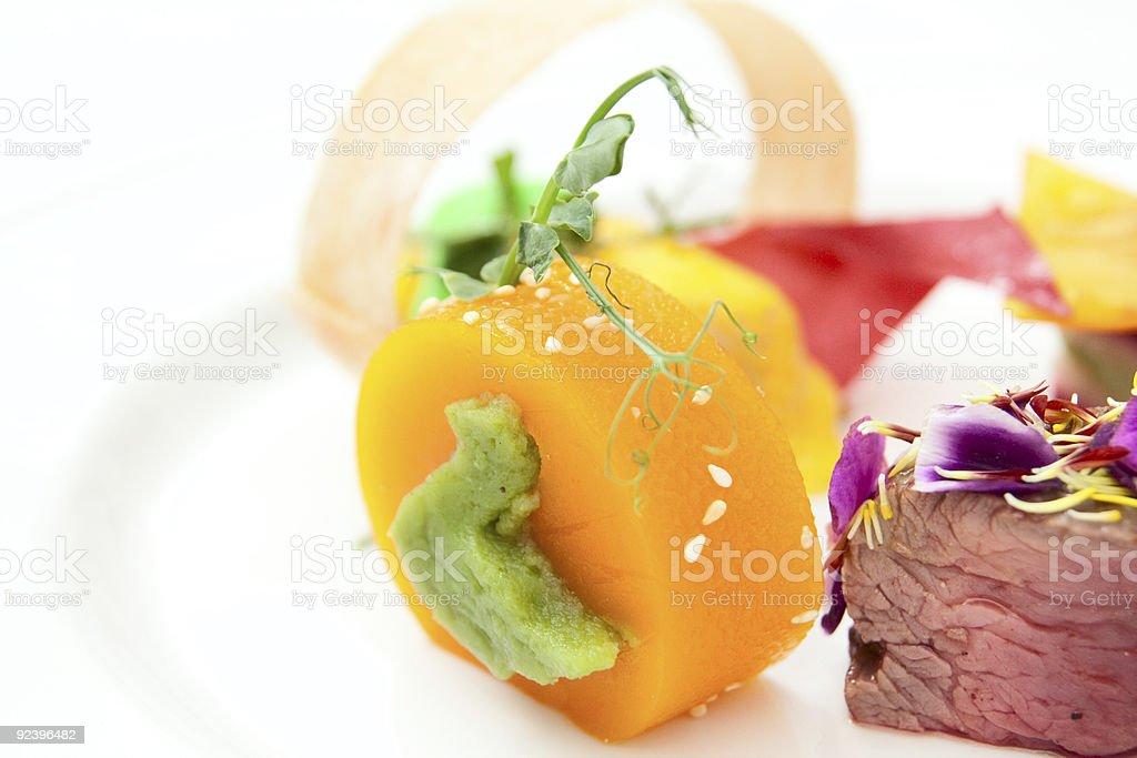 Haute cuisine dish, copy space royalty-free stock photo