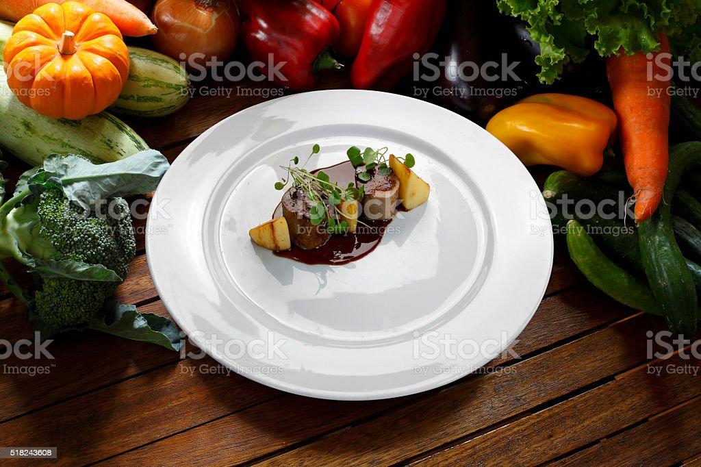 haute cuisine stock photo
