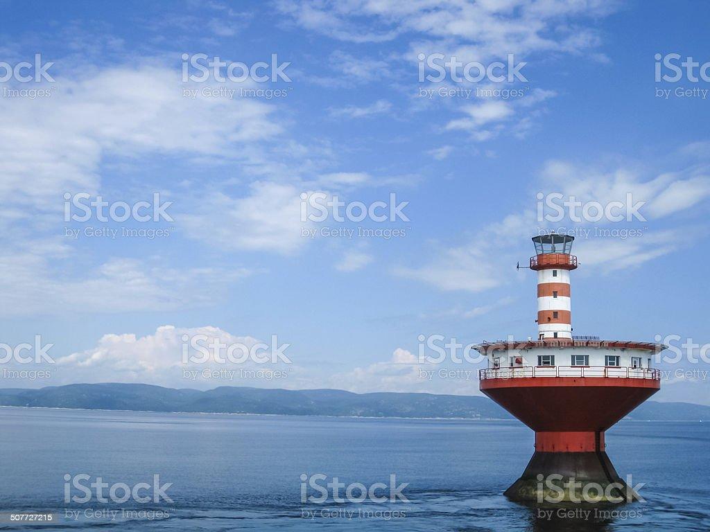 Haut-Fond Prince Lighthouse stock photo