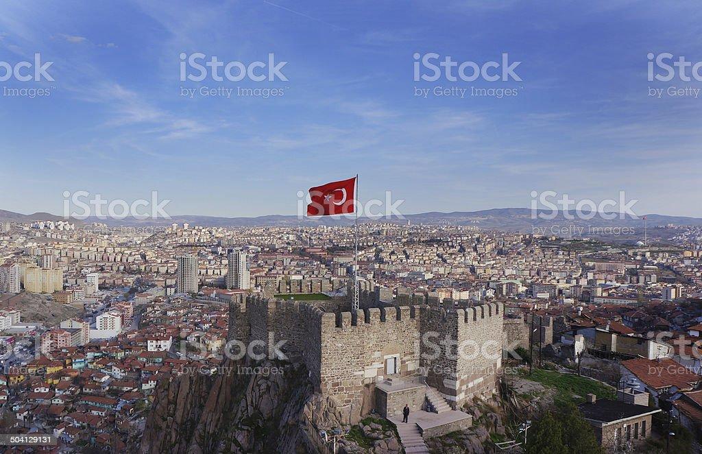 Havadan Ankara Kalesi 2 stock photo