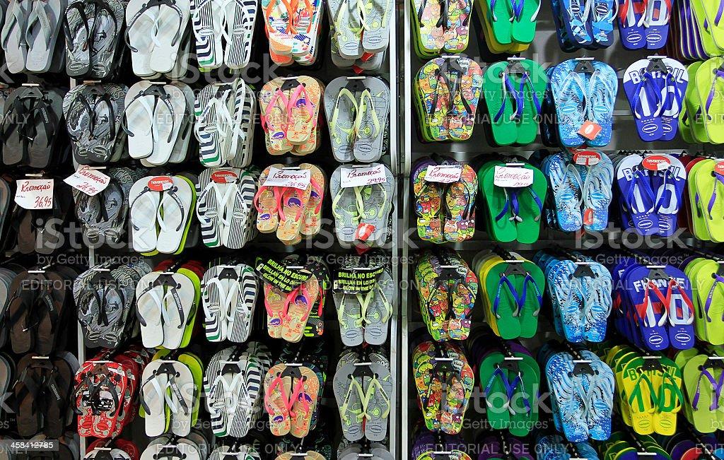 Havaianas sandals franchise shop stock photo