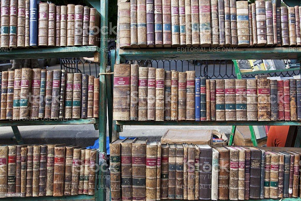 Havana, Book market Plaza de Armas royalty-free stock photo