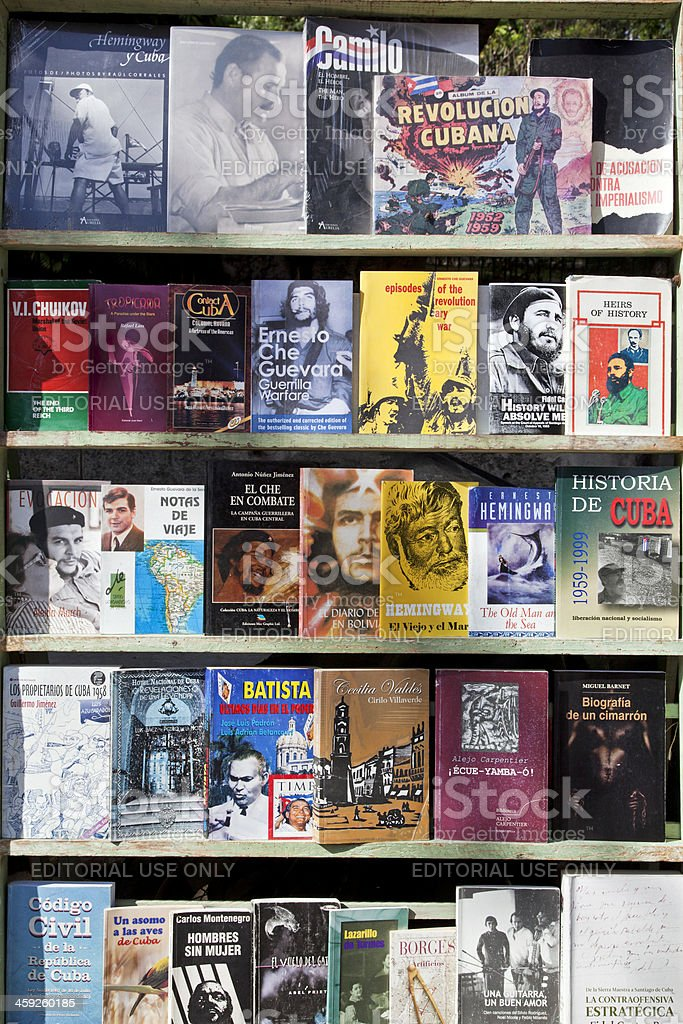 Havana, Book market Plaza de Armas stock photo
