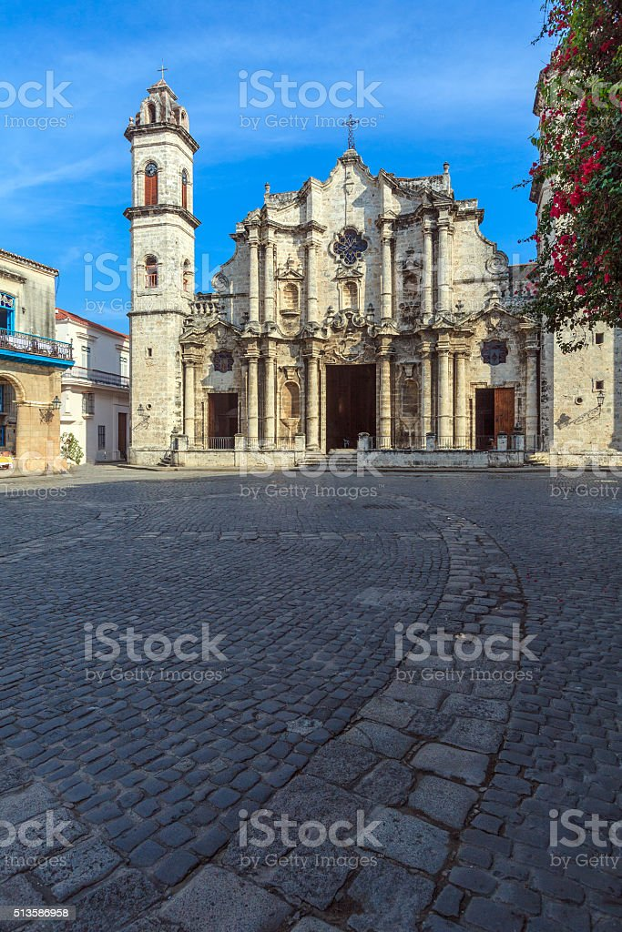 Havana Cathedral, Cuba stock photo