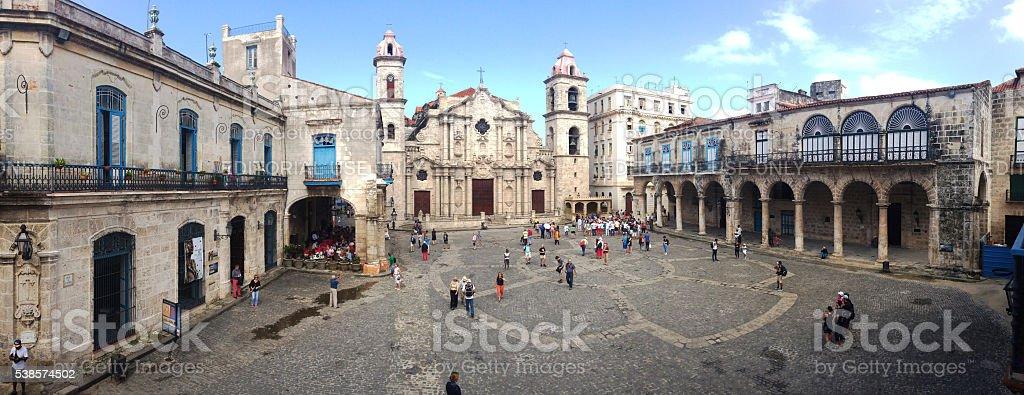 Havana Cathedral in Old Havana, Cuba 2016 stock photo