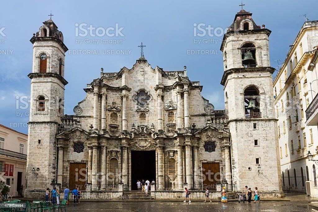 Havana Cathedral Old Havana Cuba stock photo