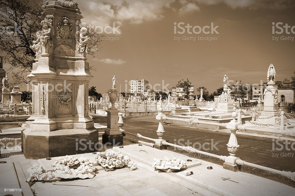 Havana cemetery stock photo