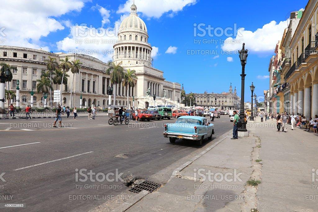 Havana center stock photo