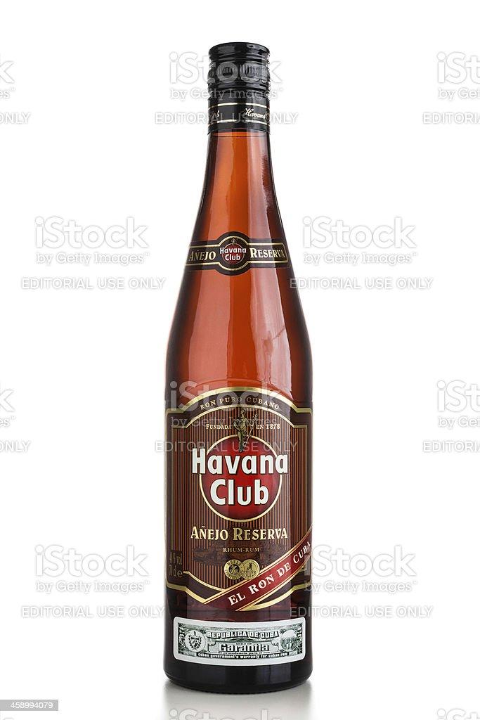 Havana Club Rum Añejo Reserva royalty-free stock photo