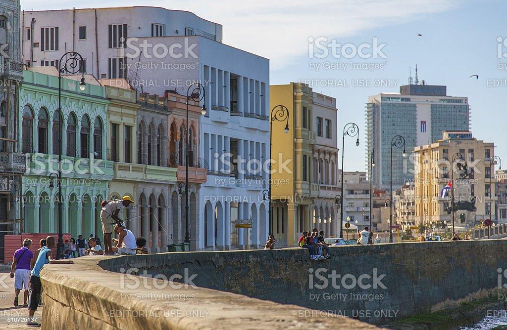 Havana, Cuba - Malecón stock photo