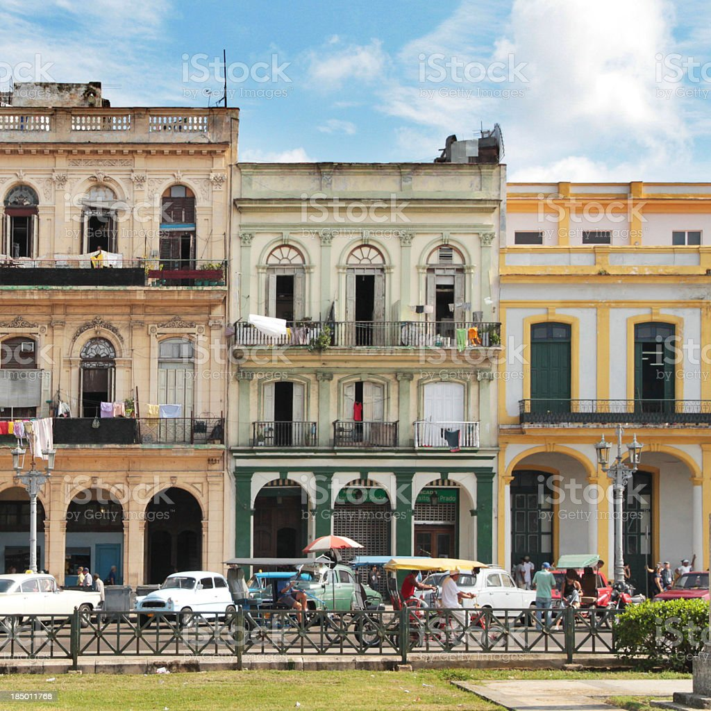 Havana Downtown buildings royalty-free stock photo