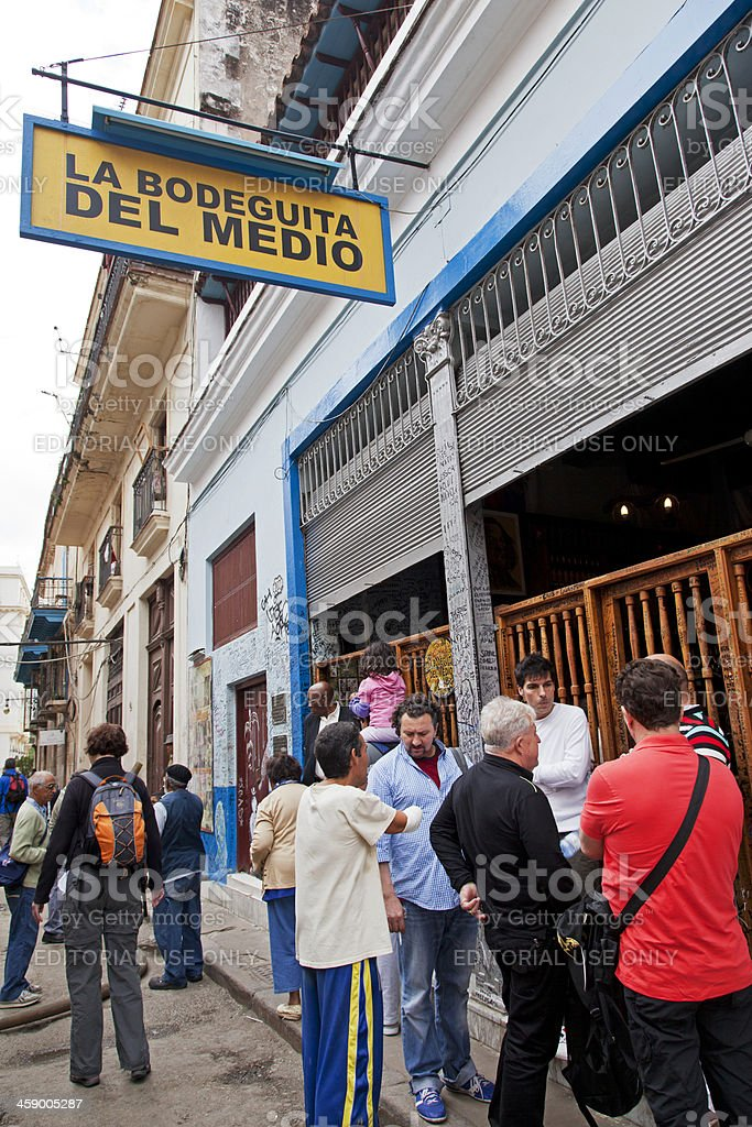 Havana, La Bodeguita del Medio royalty-free stock photo