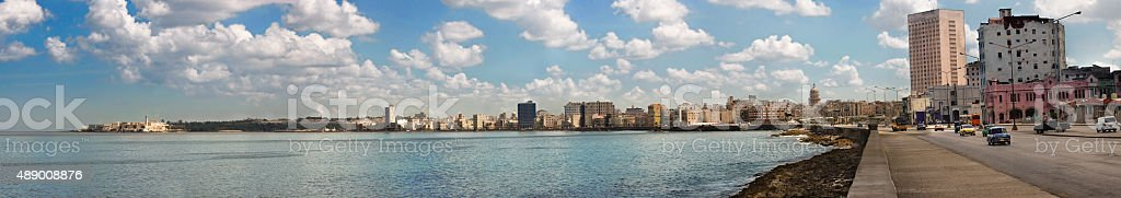 Havana panoramic malec?n stock photo