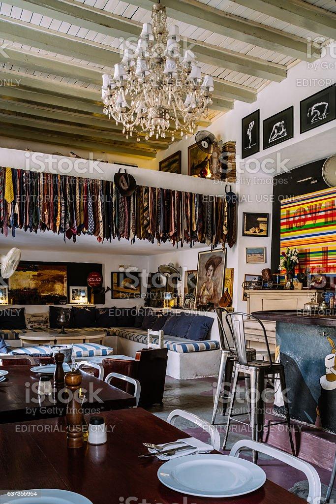 Havana private restaurant stock photo