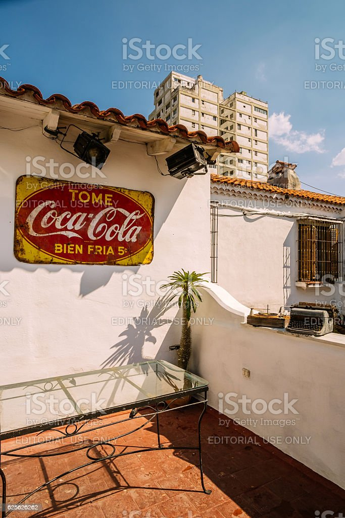 Havana restaurant exterior stock photo