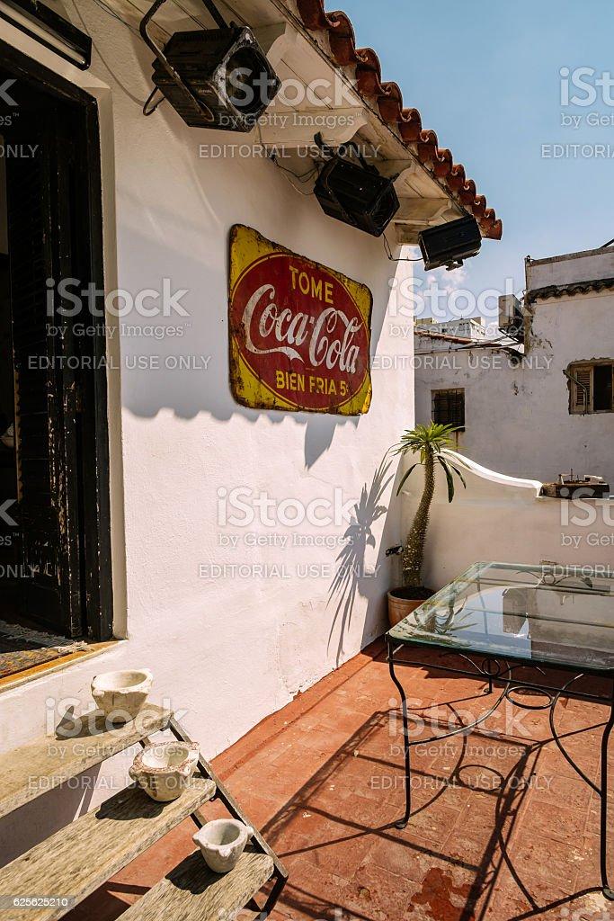 Havana restaurant extrior stock photo