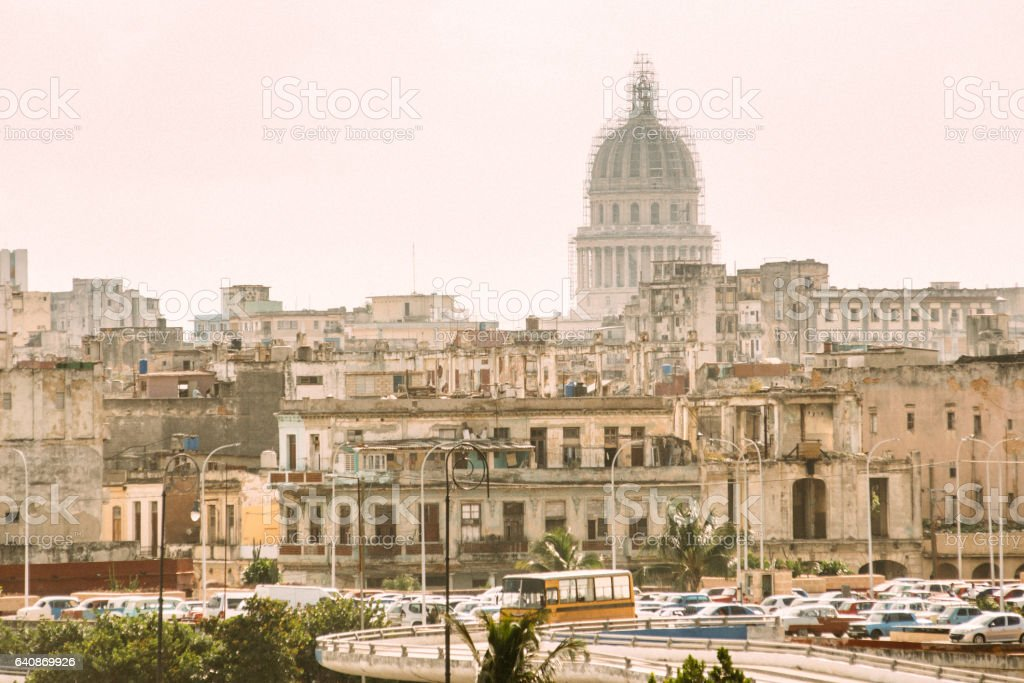 Havana Skyline Cuba stock photo