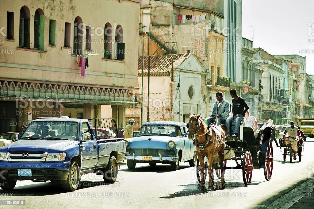 Havana street, Cuba royalty-free stock photo