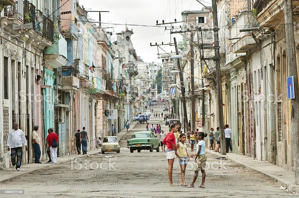 Havana street, Cuba royalty-free stock photo