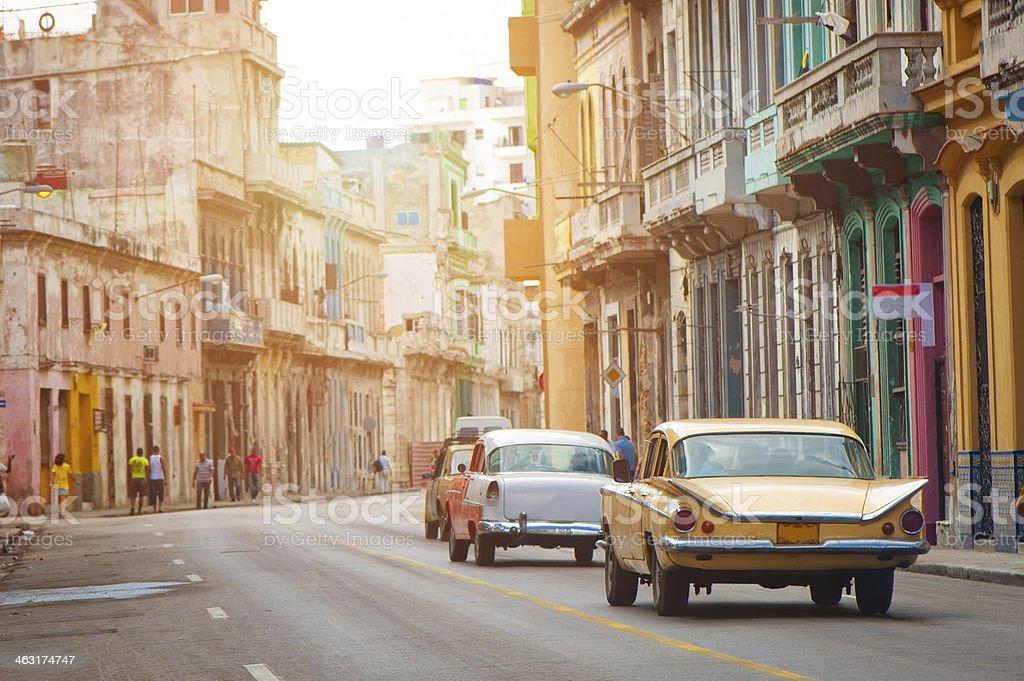 Havana street, Cuba stock photo