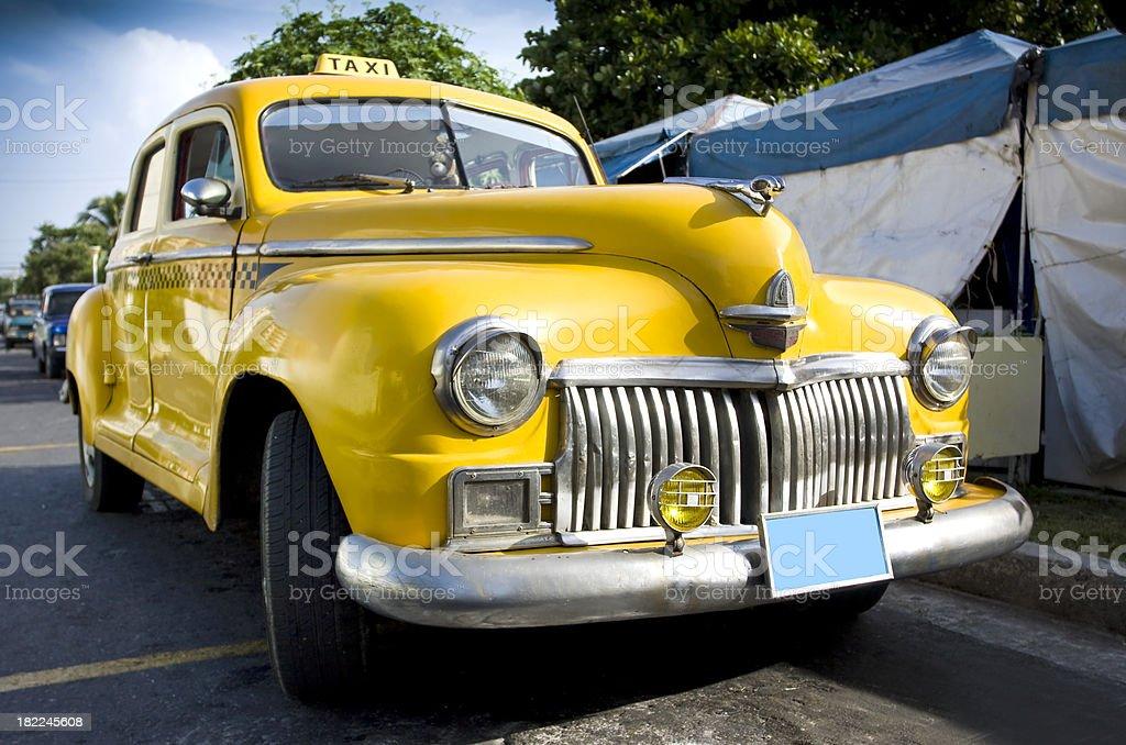 Havana´s yellow cabs! royalty-free stock photo